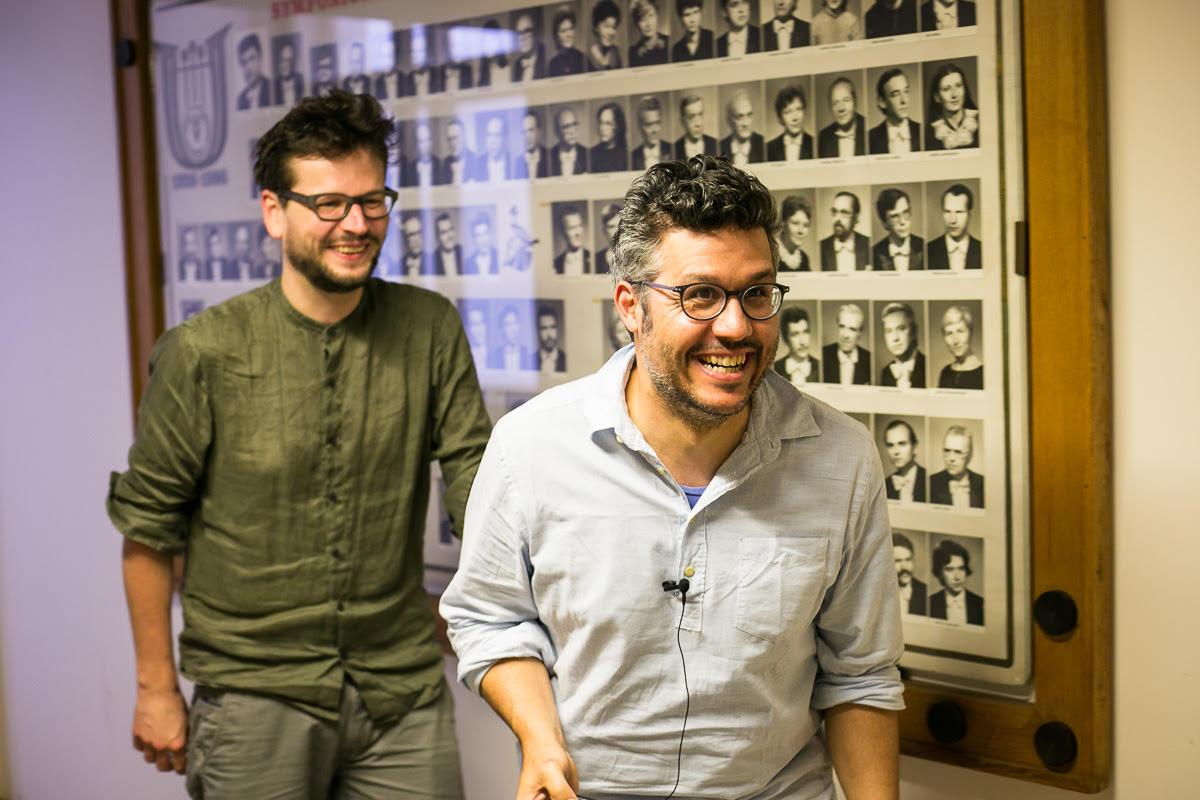 Floex a Tom Hodge v Českém rozhlasu, foto: archív Floexe