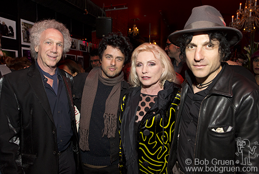 Bob Gruen, Billie Joe Armstrong, Debbie Harry & Jesse Malin, foto: David Appel