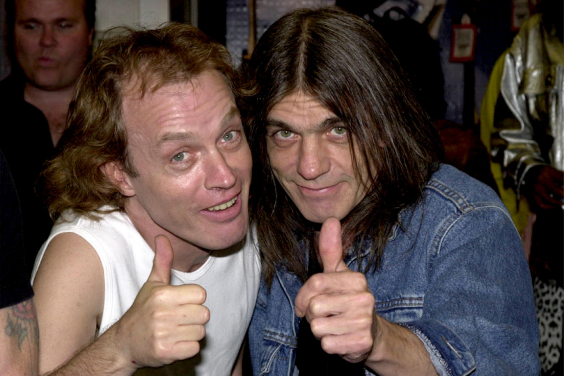 Angus a Malcolm Young, foto: YouTube