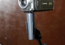 Použití kamery s adaptérem pro mikrofonnní držák
