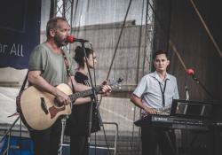 Duo Modřanka a jejich hosté David Koller a Lenka Dusilová, foto: Jan Nožička