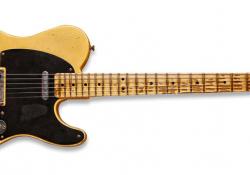 """Ač tento Fender Broadcaster vypadá jako řádně """"vyhraná"""" historická relikvie, je to ve skutečnosti úplně nová kytara, jen patřičně """"zestárlá"""" v rukách pánů z Fender Custom Shopu..."""