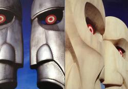 Plechová a kamenná varianta skulptur