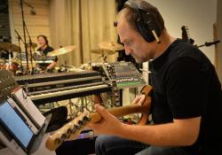 Richard Lukes (kytara) a Petr Haša (bicí) v nahrávacím zápalu
