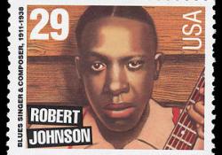 Robert Johnson se objevil i na poštovních známkách