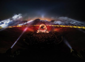 David Gilmour v Pompejích, foto: Aerofilms.cz