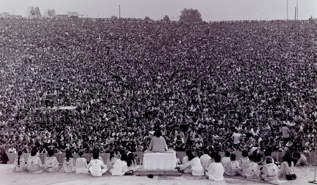 Opening Ceremony Woodstock 1969, foto: Mark Goff